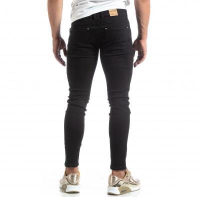Тънки мъжки черни дънки Skinny fit  it170819-41 3