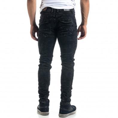 Washed мъжки черни дънки Slim fit it041019-34 3
