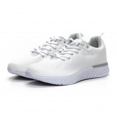 Плетени мъжки бели маратонки it240419-13 3