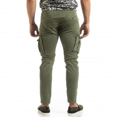 Зелен мъжки карго панталон с прави крачоли it090519-15 4