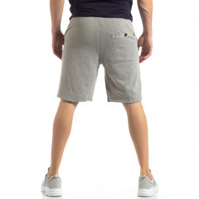 Мъжки сиви шорти на тънко райе it210319-65 3