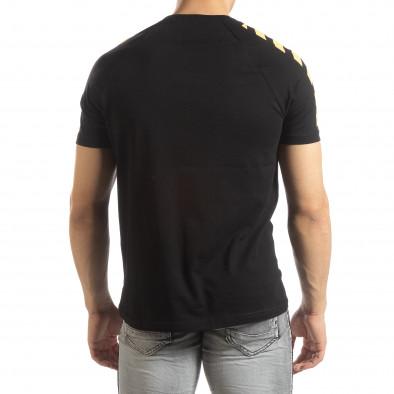 Черна мъжка тениска с реглан ръкав it150419-80 3