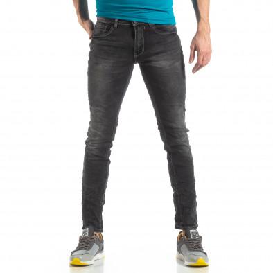 Мъжки Washed Slim Jeans в сиво it210319-7 3