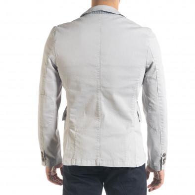 Спортно мъжко сако в сиво it240420-3 4