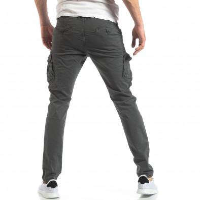 Мъжки панталон тип карго в тъмно сиво it210319-24 4