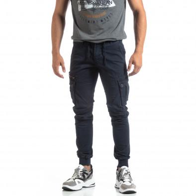 Мъжки син панталон Cargo Jogger  it170819-8 3