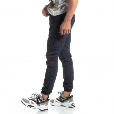 Мъжки син рокерски панталон с карго джобове it170819-5 2