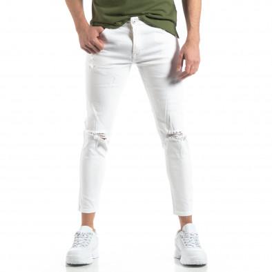 Бели мъжки дънки с прокъсвания it210319-6 4