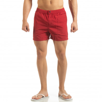 Мъжки червен бански със закопчаване it090519-77 2