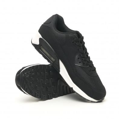 Черни мъжки маратонки с въздушна камера it251019-8 5