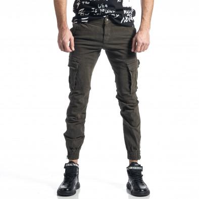 Зелен панталон Cargo Jogger с ципове на крачолите it010221-45 2