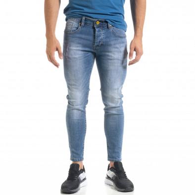 Мъжки сини скъсени дънки Capri fit it080520-60 2