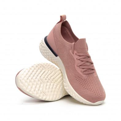 Ултралеки дамски розови маратонки тип чорап it240419-54 4