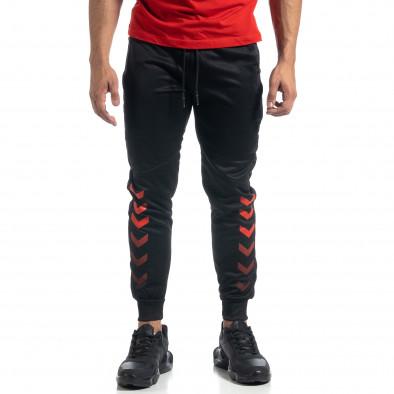 Мъжки черен Jogger червени акценти it041019-6 3