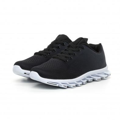 Черни мъжки маратонки с релефна подметка it130819-33 3