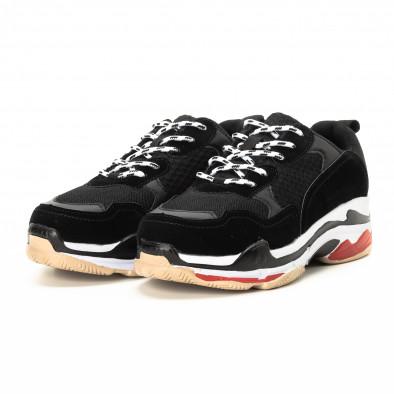 Мъжки маратонки в червено и черно с дебела подметка it221018-41 3