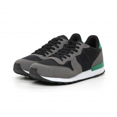Леки мъжки маратонки зелен акцент it130819-15 3