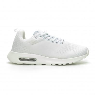 Плетени мъжки бели маратонки с въздушна камера it100519-6 2