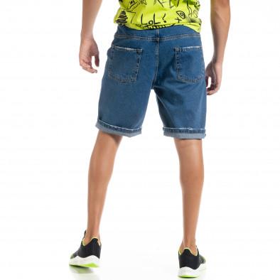 Loose fit мъжки сини дънкови бермуди it010720-14 4