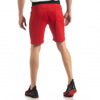 Червени мъжки шорти с ивици it210319-59 4