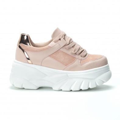 Chunky дамски маратонки в розово на платформа it250119-50 2