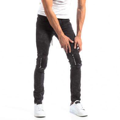 Рокерски сиви мъжки дънки Slim fit it250918-19 2