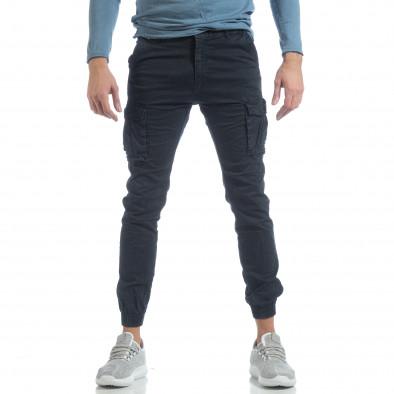 Мъжки Jogger карго панталон в синьо it040219-38 2