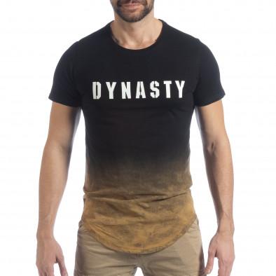 Черна мъжка тениска Dynasty it040219-120 3