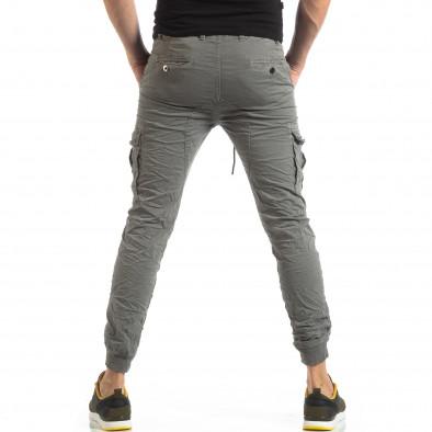 Сив карго панталон с трикотажни маншети it210319-19 4