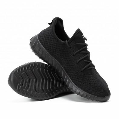 Леки мъжки маратонки от текстил All black it140918-10 4