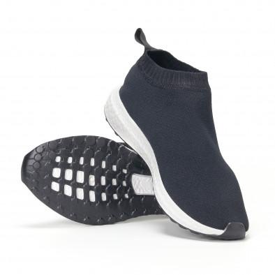 Мъжки slip-on маратонки тип чорап в черно it130819-1 4