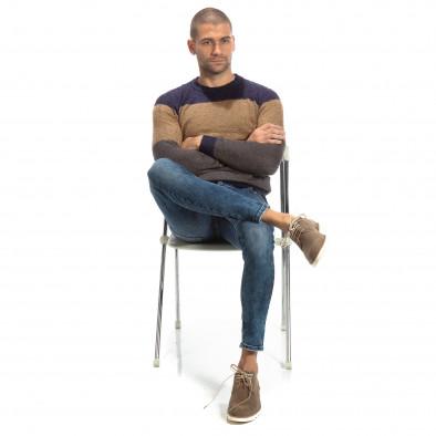 Slim fit мъжки дънки в синьо it261018-15 3