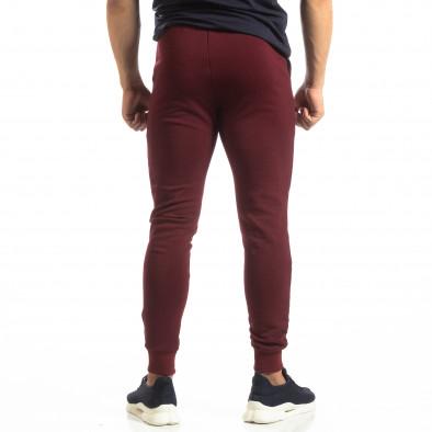 Basic мъжко памучно долнище в тъмно червено it150419-34 4