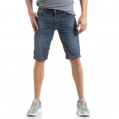 Мъжки къси дънки в синьо it210319-27 3