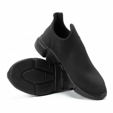 Мъжки slip-on маратонки от неопрен All black it140918-15 4