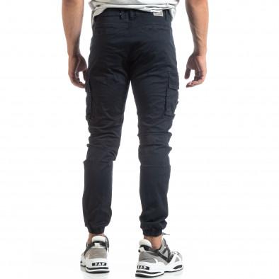 Мъжки син рокерски панталон с карго джобове it170819-5 4