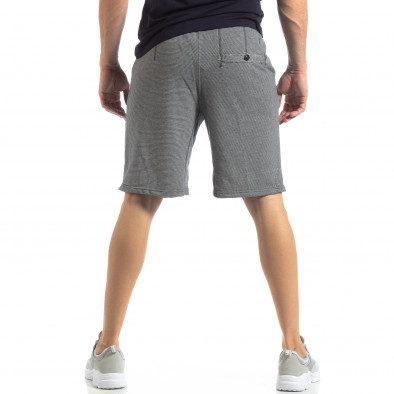Мъжки сини шорти на тънко райе it210319-66 3
