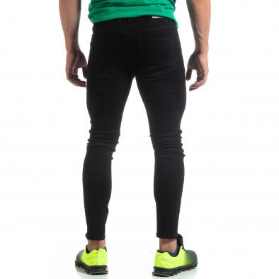 Мъжки черни дънки Skinny fit  it170819-42 3