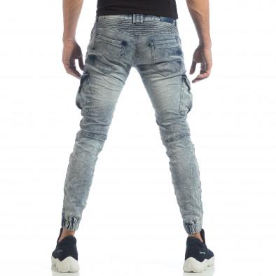 Рокерски мъжки Washed Cargo Jeans it040219-18 4