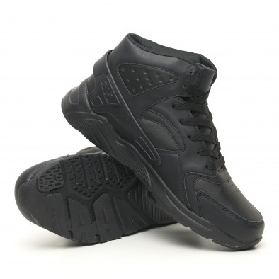 Леки високи мъжки маратонки All black it251019-4 4