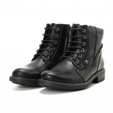 Мъжки черни боти с детайл от шагрен it221018-11 4