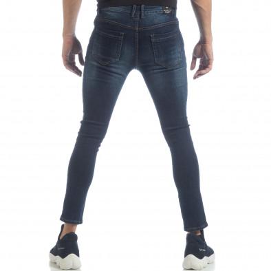 Мъжки класически Skinny Jeans в синьо it040219-8 3
