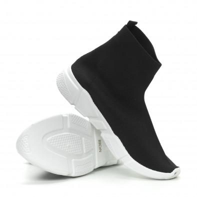 Мъжки черни slip-on маратонки чорап it150319-13 4