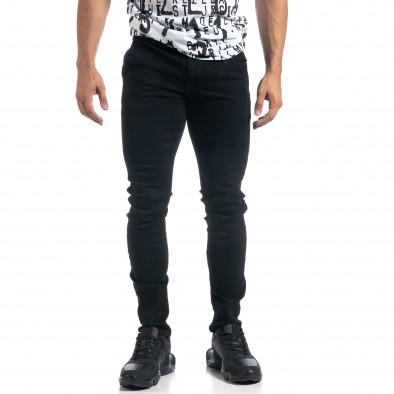 Мъжки черни дънки Slim fit it041019-25 3