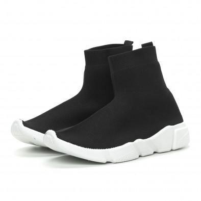 Мъжки черни slip-on маратонки чорап it150319-13 3