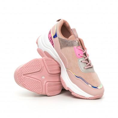 Chunky дамски розови маратонки с акценти MIX it130819-54 4