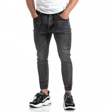 Мъжки черни джогър дънки Loose fit it170819-59 2