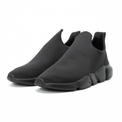 Мъжки slip-on маратонки от неопрен All black it140918-15 3