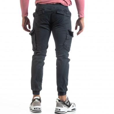 Сив мъжки карго панталон с ластични маншети it170819-19 4