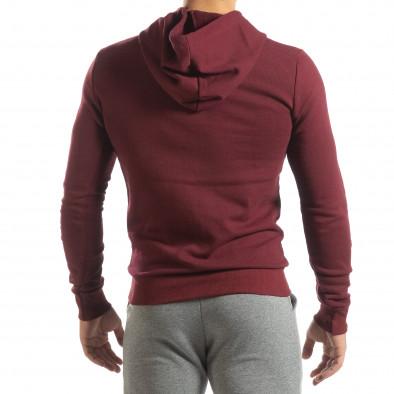 Basic мъжки суичър тип анорак в тъмно червено it150419-42 4